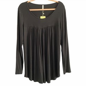 Black long sleeve tunic new with tags XL